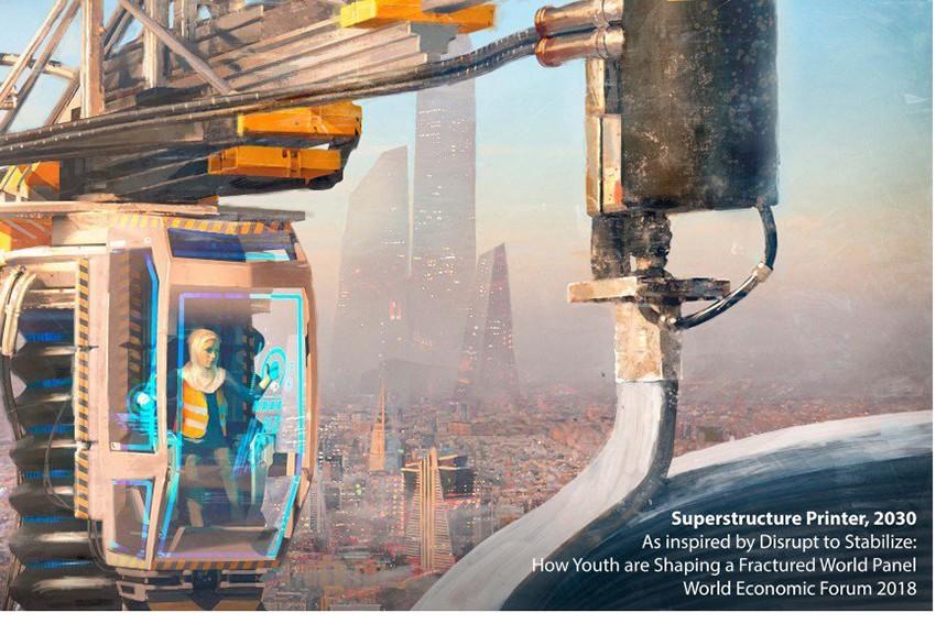 Privind către viitor: ilustrații care ne arată cum ar putea fi arhitectura și construcțiile în 2030
