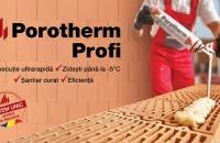 Cărămidă șlefuită pentru execuția zidăriilor la temperaturi scăzute - Porotherm Profi