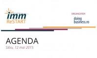"""Agenda evenimentului """"IMM ReStart - Descopera-ti potentialul"""" de la Sibiu Doingbusiness ro are placerea de a"""
