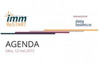 """Agenda evenimentului """"IMM ReStart - Descopera-ti potentialul"""" de la Sibiu"""