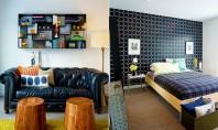 Interioare decorate intr-un stil industrial rafinat Stilul apartamentului se poate incadra in sfera modernului minimalist in