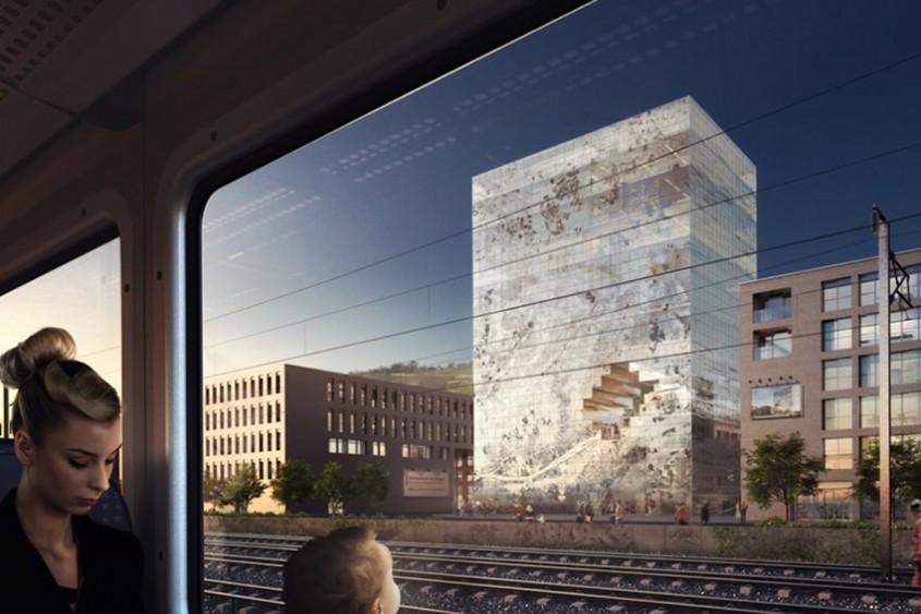 Noua clădire a biroului MVRDV va semăna cu un bloc uriaș de cristal