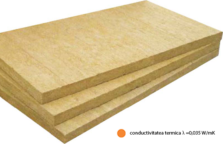 FKD-N (lamda =0 035 W mK) Vata bazaltica pentru termosistem cu cea mai buna conductivitate termica