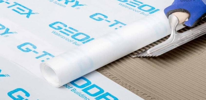 Hidroizolații sub placări ceramice sau din piatră naturală cu membrane din FPO, G-TEX GEODRY