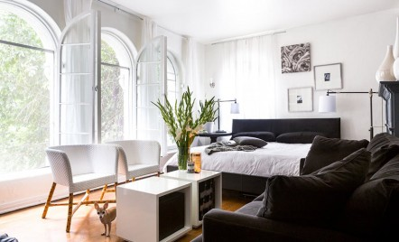 Apartament in alb si negru pentru un artist