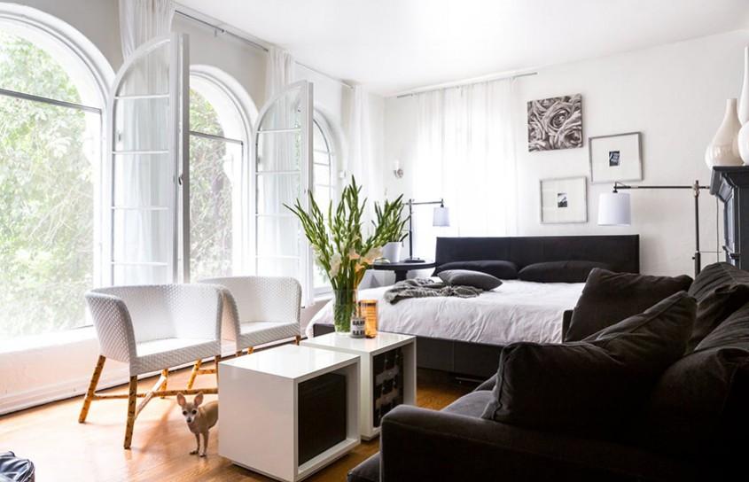 Un apartament în alb şi negru