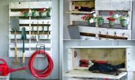 Cand paletii de lemn devin un suport bun pentru uneltele de gradinarit Deosebit de practic pentru