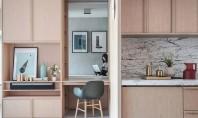 Reconfigurarea unui apartament cu ajutorul mobilierului încastrat Biroul de design interior JAAK a folosit mobilierul incastrat