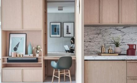 Reconfigurarea unui apartament cu ajutorul mobilierului încastrat