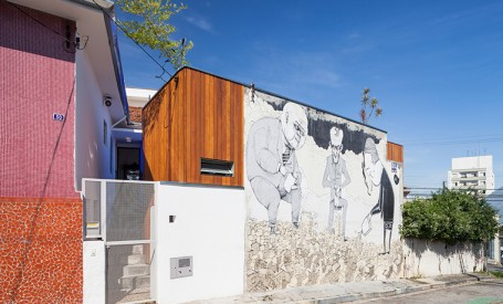 O casa renovata care pastreaza arta stradala