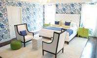 Prospețime în amenajare dormitoare în verde și albastru Verdele combinat cu albastru nu se numara printre