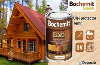 Uleiul protector pentru lemn Bochemit Estetik Cu Bochemit Estetik puteti decora lemnul in diferite culori fara insa a-i conferi o acoperire totala, lasand astfel sa se vada fibra si textura sa naturala. Un