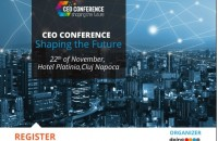 CEO Conference - Shaping the Future are loc în Cluj-Napoca, pe 22 noiembrie DoingBusiness.ro organizeaza pe 22 noiembrie 2018, in Cluj-Napoca, CEO Conference – Shaping the Future – how businesses rewrite the future and find value in