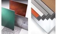 Finisaje noi pentru panourile compozite din aluminiu ALUCOBOND® Panourile compozite din aluminiu ALUCOBOND® marca distribuita in
