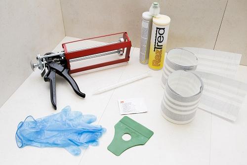 Profilux vă prezintă un produs inovator pentru protecția anti-alunecare, destinat treptelor și pardoselilor: RezTred