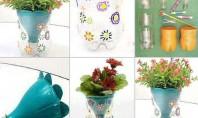 Ghivece de flori din sticle de plastic Si ghivecele de flori pot fi abordate cu creativitate!