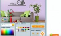 Testeaza compatibilitatea intre culoarea stickerului si cea a peretelui BeeStick va pune la dispozitie un simulator