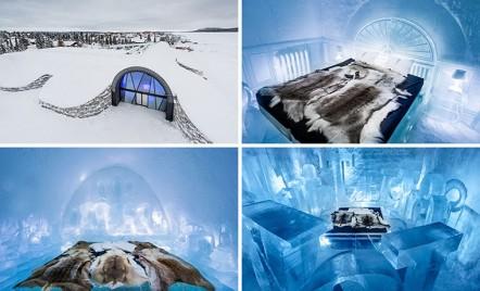 Design deosebit pentru un hotel de gheata