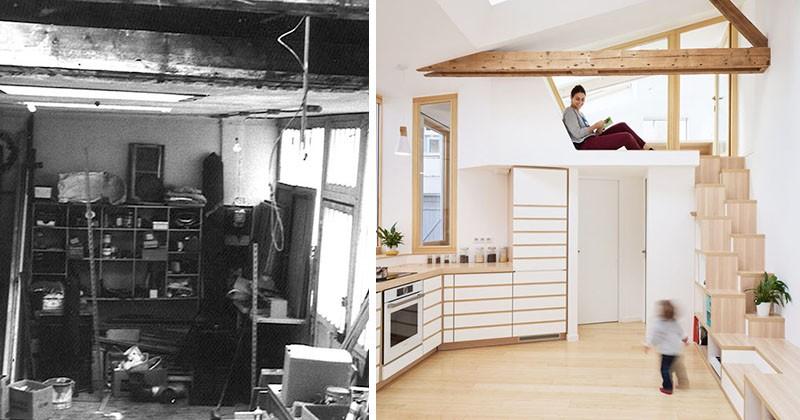 Studioul unui artist din anii '70 a fost transformat într-o casă luminoasă și aerisită