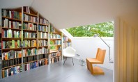 Pod transformat in atelier pentru un scriitor si biblioteca De obicei podurile sunt percepute ca spatii