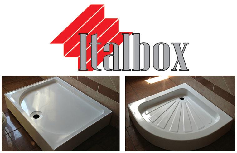 Gama variata de cadite de dus din acril la Italbox