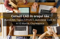 Cursuri de instruire CAD în Cluj-Napoca Inscrierea la cursurile CAD ajuta la cresterea productivitatii, dar si la proiecte mai inovatoare, deoarece utilizatorul CAD reuseste sa se familiarizeze mai