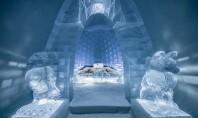 Imagini de poveste cu primul hotel de gheață din lume, redeschis pentru al 29-lea sezon Situat la 200 de kilometri la nord de Cercul Polar Arctic, in localitatea JukkasjarviIce, Ice Hotel este primul hotel construit din zapada si gheata din lume.