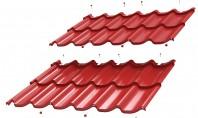 Tigla metalica Umbrella® dublu-modulara Usor de manevrat si de montat fara imbinari vizibile NOU in industria