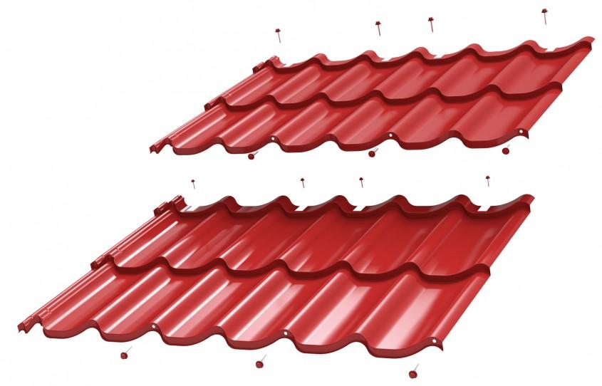 Tigla metalica Umbrella® dublu-modulara. Usor de manevrat si de montat, fara imbinari vizibile