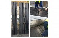 Hidroplasto a demarat lucrarile de instalare a dispozitivelor de tratare a rosturilor la pod km 144+561