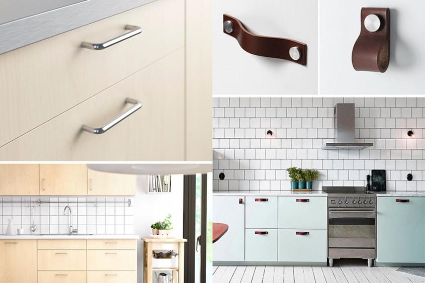 Variante de mânere și butoni pentru dulapurile din bucătărie