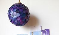 Abajurul cu solzi colorati Vorbim bineinteles despre un abajur decorativ potrivit mai ales pentru amenajarile feminine