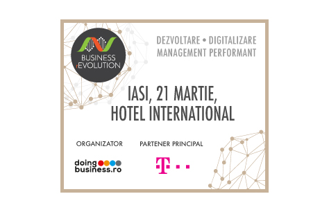 Conferintele Doingbusiness.ro - Business (r)Evolution debuteaza la Iasi, in 21 martie 2017