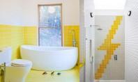Zece exemple despre cum puteți insera un strop de galben în baie Dupa cum veti vedea