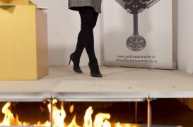 Panoul incombustibil Quattro pentru sistemele de pardoseli supraînălțate rezistente la foc