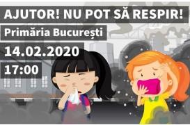 """Marș împotriva poluării din Capitală: """"Aer curat, nu plămân intoxicat!"""""""