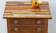 Masa decorata cu rigle! Iata o sugestie buna de a improspata aspectul unei vechi mese de