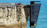 O casa agatata de versantul falezei Echipa Modscape Concept au proiectat o locuinta impresionanta cu cinci