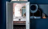 """Zece băi inspirate de decada cu designul cel mai îndrăzneț Eticheta """"baie in stilul anilor '80"""""""