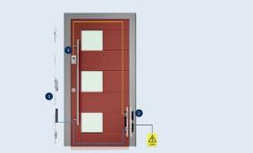 Noul concept pentru ușile rezidențiale. GU-SECURY AUTOMATIC ȘI CONTROLUL  ACCESULUI CU AMPRENTĂ