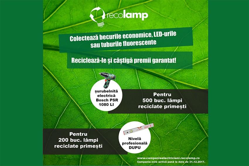 Recolamp oferă premii garantat celor care colectează becuri economice, LED-uri și tuburi fluorescente!