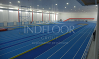 Indfloor Group da o noua infatisare pistei de atletism Lia Manoliu Echipa de montaj a companiei
