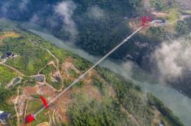 A fost inaugurat cel mai lung pod de sticlă din lume