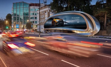 Cum arată un panou publicitar creat de arhitecta Zaha Hadid