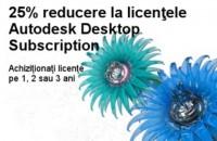 25% reducere la licentele Autodesk Desktop Subscription in perioada 07.05.2015 - 22.07.2015