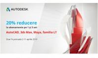 FLASH PROMO 20% reducere la AutoCAD 3ds Max AutoCAD LT și AutoCAD Revit LT Suite Produsele