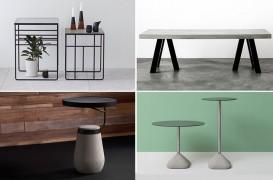 Idei pentru interioare industriale - mese din metal si beton