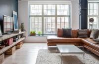 Un apartament confortabil ce aminteste de un spatiu industrial