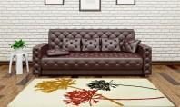 Alege sa-ti decorezi sufrageria cu un covor floral! Pe langa faptul ca are un aspect proaspat