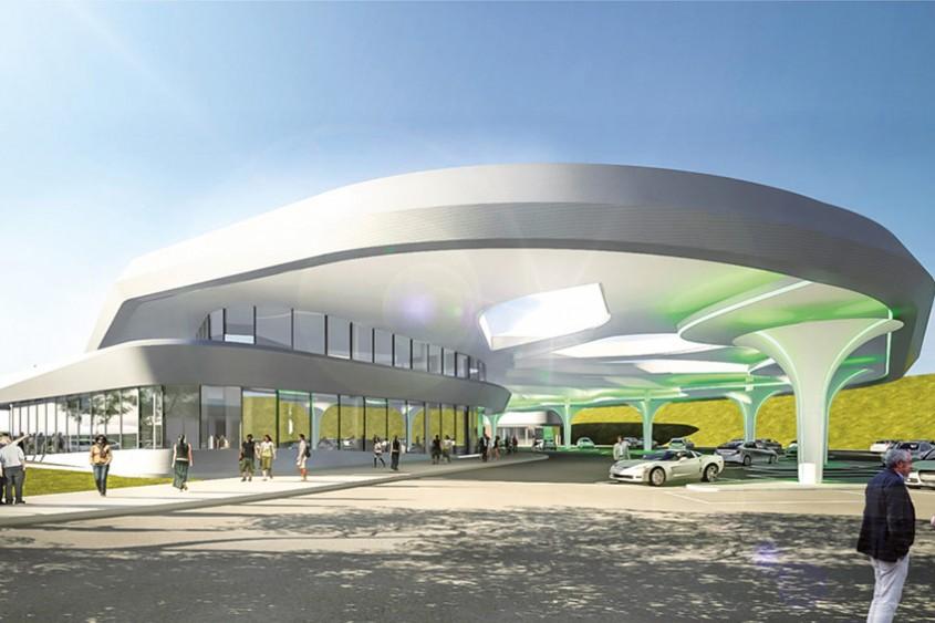 Au fost dezvăluite planurile celei mai mari stații de încărcare pentru mașinile electrice